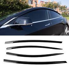 Fit Tesla Model 3 Vent Deflector Side Window Deflector Rain Guards Accessories