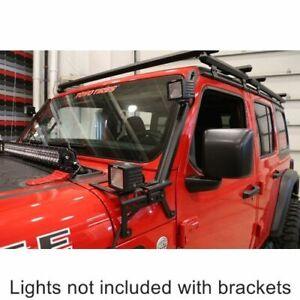 DeeZee 4446JL Jeep A-Pillar Light Brackets For Jeep Gladiator/Wrangler 2018-2020