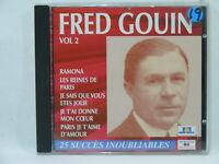 Fred Gouin - 25 succès inoubliables CD Chanson Française vintage 30's 40's 50's
