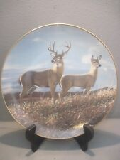 Danbury Mint Friends Of The Forest Commeorative Plate Autumn Hillside