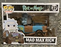 NEW FUNKO POP! RIDES RICK AND MORTY #37 MAD MAX RICK VINYL FIGURE DAMAGED BOX