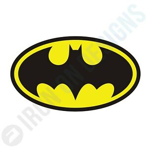 BATMAN LOGO SUPERHERO - IRON ON TSHIRT TRANSFERS - A6 A5 A4