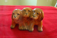Vintage Beswick Made in England Three Dogs Figurine 391439