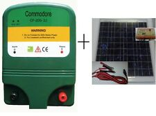 Solar Electric fence Energiser  2 Joule 20km+ Power Pack Included + 20W solar...
