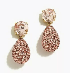 J.Crew CRYSTAL AND PAVÉ TEARDROP EARRINGS! Sold Out! Dark Mauve 💗