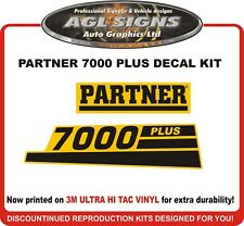 PARTNER 7000 PLUS Chainsaw reproduction decals
