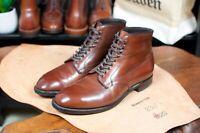 Alden Cigar Shell Cordovan Plain Toe Boot 10 D Anatomica of Paris Shoes
