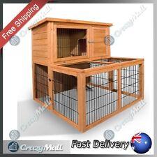 Rabbit Cage Hutch Indoor/Outdoor 2 Storey Guinea Pig Pet Supplies with Run Exten
