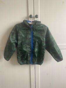 Boys Next camouflage rain jacket age 3-4 lightweight summer waterproof