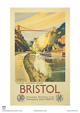 TU72 Vintage Romantic Bristol British Railways Travel Poster RePrint A4