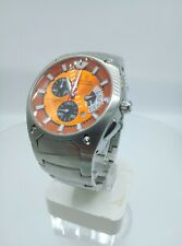 Festina F6719 men's chrono watch orange dial solid stainless steelF6719/6 10 ATM