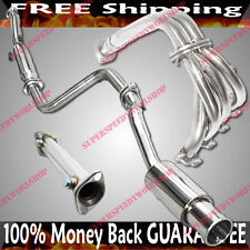 D15D16 Catback Exhaust&Header&TestPip 92-95 Honda Civic CX DS VX Si Hatchback 3D