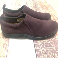 Ugg Suede sherpa lined Slip on shoes size 9