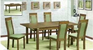 Classic 7pc Dining Set Kitchen Dining Room Wooden Top Side Chair Furniture