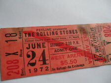 ROLLING STONES Original__1972__UNUSED TICKET__Exile Main Street Tour__Fort Worth