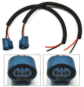 Extension Wire Pigtail Female U 9005 HB3 Two Harness Head Light Plug Play Socket