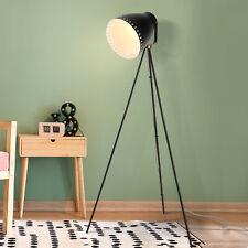 HOMCOM 40W Tripod Floor Lamp Adjustable Shade Standing Industrial Style Black