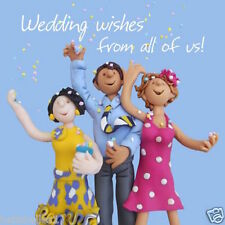 """""""WEDDING WISHES FROM US ALL"""" LARGE WEDDING DAY CARD**FREE 1ST CLASS P&P**"""