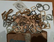 Vintage Tandy Leather Company- Belt Buckle Buckles Lot Clip Ring Snap Brass #1