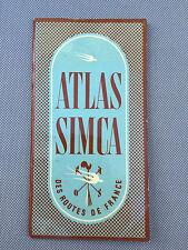 Ancien atlas carte de france SIMCA de 1952 pub voiture ancienne french antique