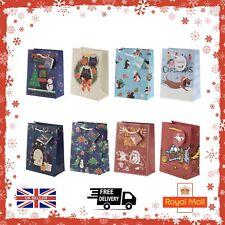 Christmas Medium Luxury Gift Bags Xmas Party Present Bag Xmas Various Designs