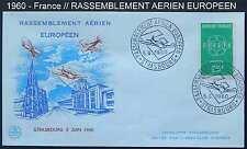 RASSEMBLEMENT AERIEN EUROPEEN - AVIATION /1960  STRASBOURG ENVELOPPE FDC (r1395)