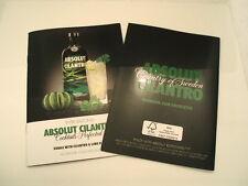 Lot of ONE Absolut Cilantro Vodka recipe booklet.