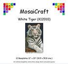 MosaiCraft Pixel Loisirs créatifs Mosaïque Art Kit 'Tigre Blanc' Pixelhobby