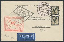 DOX FLIGHT COVER DO4b W/ GERMANY #C34 (PAIR) CHICAGO, ILL. JAN.30,1931 BR1321