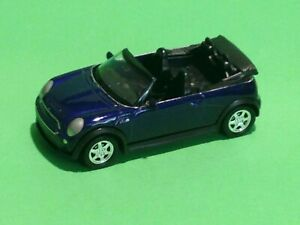 WELLY MINIATURE Blue Mini Cooper S Cabriolet Car Die Cast