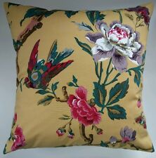 """Cushion Cover in Next Ochre Floral Bird 16"""" Matches Curtains Bedding"""