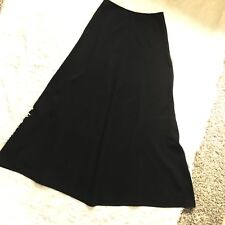 St John Evening Santana Knit Black Full Length Maxi Skirt Size 6 Small
