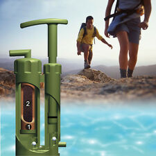 NEW Soldier Portable Water Purifier Purification Pump Filter Backpacking Camping