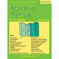 Test Your Maths 8 (Australian Homeschooling)