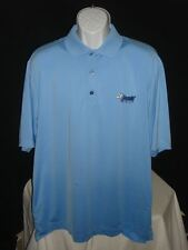 "Men's FootJoy Light Blue ProDry Pique Polo Golf Shirt Sz. L ""Jacobs Golf""."