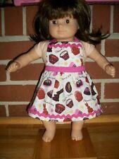 Bitty Baby Twin Custom Handmade American Girl Chocolate candy bunnies Apron pink