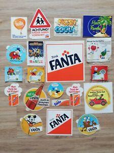 Fanta Aufkleber Sticker rar Sammlung   Retro  80er  Konvolut