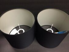 """2 Fabric Cylinder Lamp Shade For Table Lamp / Floor Lamp New 8.5"""" x 8.5"""" x 8"""""""