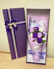Artificial PURPLE Rose Bouquet Boxed Flowers Floral Valentine Ivy Vine Wedding