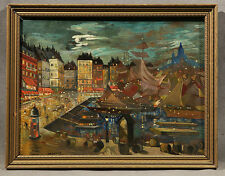 Port  View Russian Painting signed Korovin Alexei Konstantinovich