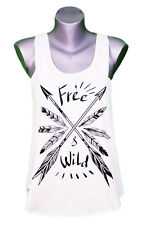 """DEBARDEUR FEMME PLUMES - """"WILD AND FREE"""" taille unique - WOMAN FEATHERS TANK-TOP"""