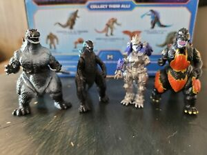 Godzilla Monsters mini figures..
