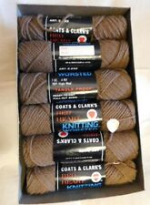 NOS Coat & Clark's RED HEART 100% Virgin Wool #339 WALNUT 11+ skews  BOXED