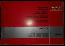 Deutz Fahr Mähdrescher M 660 / 770 Ersatzteilliste
