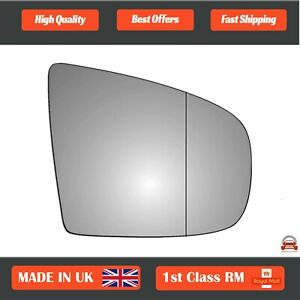 Right Side Stick On Wide Angle Wing Mirror Glass for BMW X5 2006-2013 282RAS