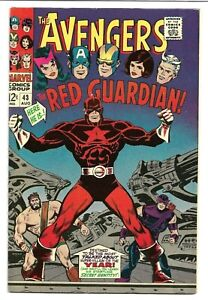 AVENGERS #43, 1967 Marvel, 1st Appearance RED GUARDIAN 8.5 VF+