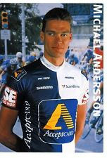 CYCLISME carte cycliste MICHAEL ANDERSSON équipe ACCEPTCARD