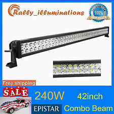 42Inch 240W Led Work Light Bar COMBO Beam SUV Boat Driving Lamp 4X4WD 120W RALLY