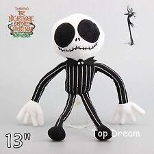 The Nightmare Before Christmas Jack Skellington Plush Toy Stuffed Doll 13'' Gift