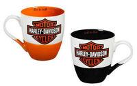 Harley-Davidson® 16 oz Black & Orange Two Ceramic Java Cup Gift Set 3MCF4900